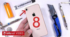 iPhone 8 tiếp tục là nạn nhân bị tra tấn tan tành trong thử nghiệm độ bền