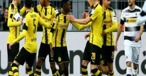 Video, kết quả bóng đá Dortmund - Gladbach: 'Hủy diệt' bằng set tennis