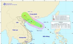 Áp thấp nhiệt đới cách bờ biển Quảng Ninh-Hải Phòng khoảng 190km