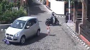 Bé gái thoát chết thần kỳ sau khi bị ôtô cán qua người