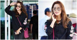 'Nữhoàng màn ảnh' Kim Hee Sun rạng rỡ tại sân bay Đà Nẵng