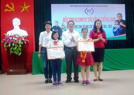 Quang Binh: Tai nang tieng Anh bac tieu hoc tranh tai - Anh 1