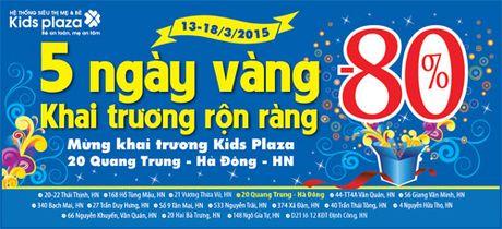 """Sieu bao"" 3.000 dong mung khai truong Kids Plaza Quang Trung. - Anh 1"