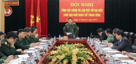 Tong cuc Chinh tri lam viec voi lanh dao khoi doan the Trung uong - Anh 1