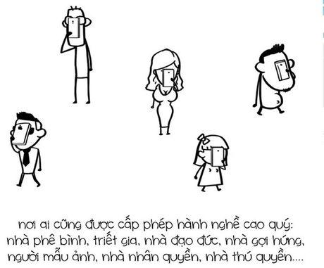 Tranh ve su that ve Facebook cua nhom Le Bich - Anh 3