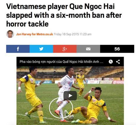 Bao Anh dua tin ve 'cu vao bong khung khiep' cua Que Ngoc Hai - Anh 1