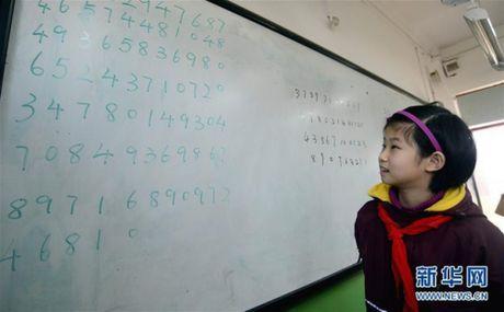 Trung Quoc: Be gai 10 tuoi lap ky luc tri nho sieu pham - Anh 3