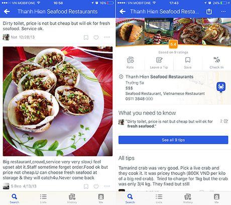 "Da Nang: Nha hang Viet gia ""chat chem"" bi danh gia thap tren Foursquare - Anh 2"