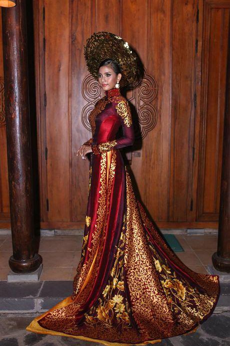 Truong Thi May trinh dien lai ao dai tung thi Miss Universe 2013 - Anh 6