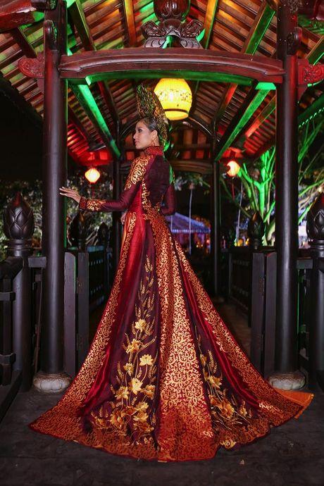 Truong Thi May trinh dien lai ao dai tung thi Miss Universe 2013 - Anh 7
