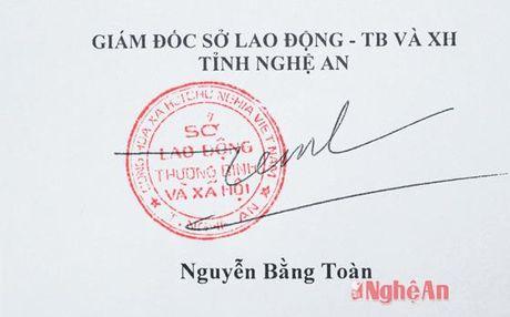 Chu ky lanh dao, dau cua So LD-TB&XH Nghe An bi gia mao - Anh 4