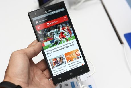 Philips ra mat thi truong Viet Nam 2 smartphone tranh hai mat - Anh 2