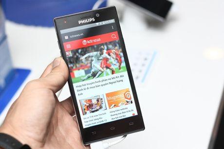 Philips ra mat thi truong Viet Nam 2 smartphone tranh hai mat - Anh 4