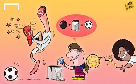"""Biem hoa 24h: Messi """"choi xau"""" Ronaldo truoc them El Clasico - Anh 1"""