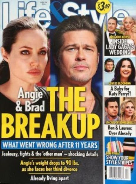 Tap chi 'Life & Style': Angelina Jolie va Brad Pitt da chinh thuc ly than - Anh 1