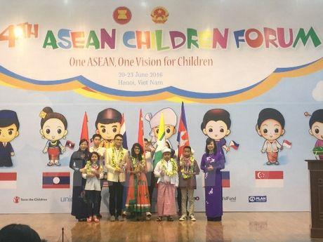 """Khai mac dien dan """"Mot ASEAN, Mot tam nhin vi tre em"""" tai Ha Noi - Anh 1"""