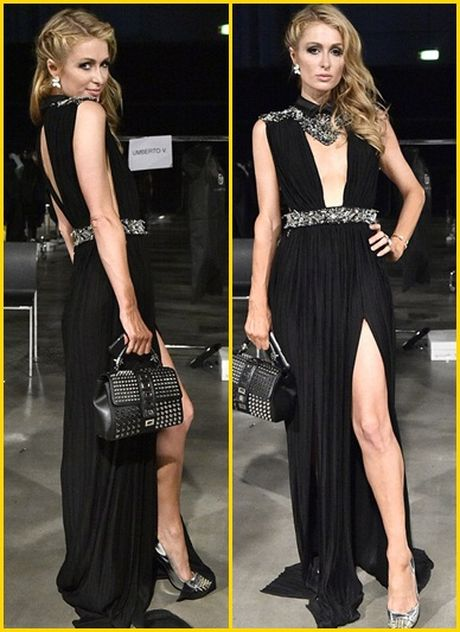 Paris Hilton dien vay xe cao khoet sau di xem thoi trang - Anh 6