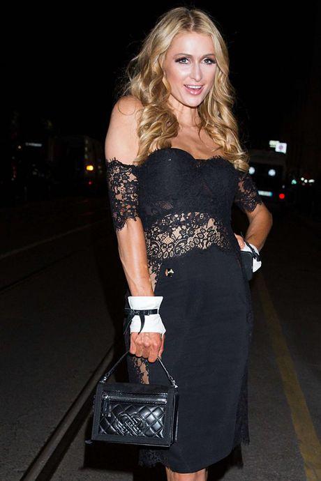 Paris Hilton dien vay xe cao khoet sau di xem thoi trang - Anh 8