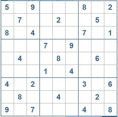 Moi cac ban thu suc voi o so Sudoku 3446 muc do Kho - Anh 1