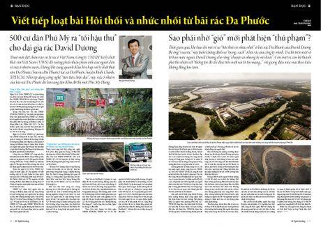 "Viet tiep loat bai Hoi thoi va nhuc nhoi tu bai rac Da Phuoc: 500 cu dan Phu My ra ""toi hau thu"" cho dai gia rac David Duong - Anh 5"