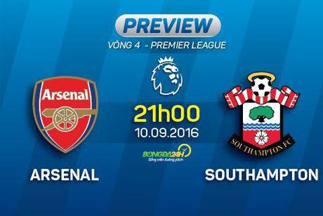 Arsenal vs Southampton (21h ngay 10/9): Hieu ung tu nhung hong phao moi - Anh 1