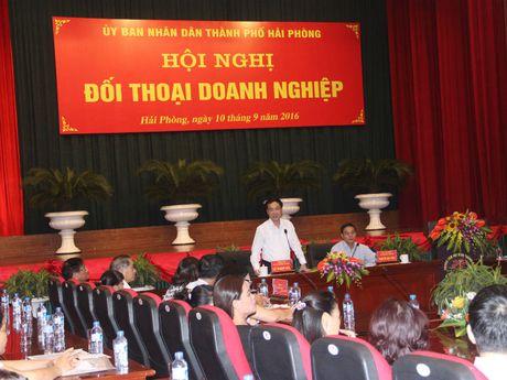Hoi nghi doi thoai Doanh nghiep thanh pho Hai Phong: Giai quyet den cung cac kien nghi cua doanh nghiep - Anh 1