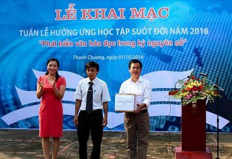 Nghe An: Khai mac Tuan le huong ung hoc tap suot doi nam 2016 - Anh 1