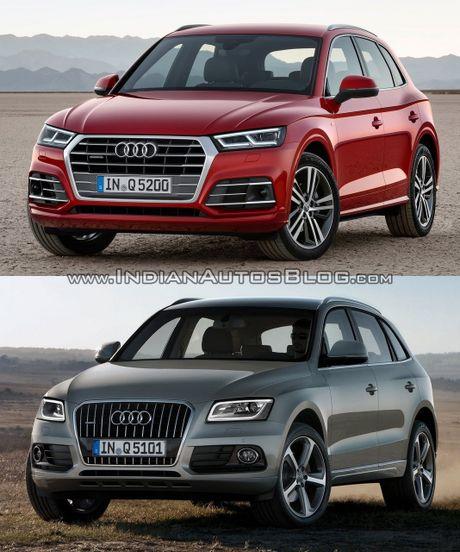 So sanh nhanh Audi Q5 doi 2017 va 2013 - Anh 1