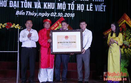 Don bang di tich lich su cap tinh Nha tho dai ton va Khu mo to dong ho Le Viet - Anh 1