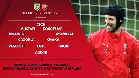 TRUC TIEP Burnley 0-0 Arsenal: Sanchez, Oezil va Walcott da chinh (Hiep 1) - Anh 1