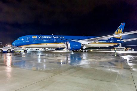 Hai sieu may bay cua Vietnam Airlines phai hoan gio bay vi chim troi - Anh 1