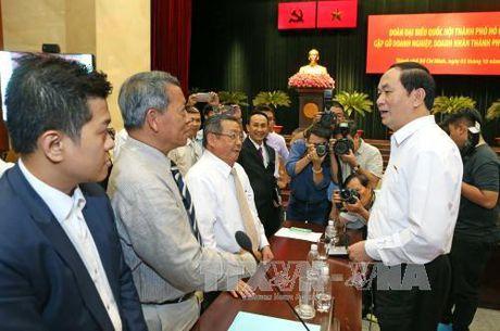 Chu tich nuoc Tran Dai Quang: Doanh nhan Tp. Ho Chi Minh phai luon dong vai tro tien phong - Anh 1