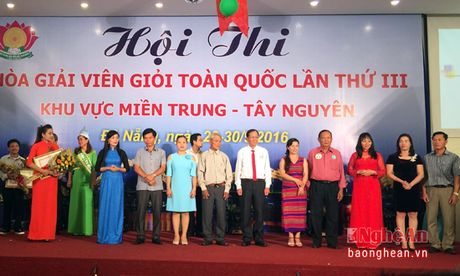 Nghe An gianh giai nhi hoi thi Hoa giai vien gioi khu vuc mien Trung – Tay Nguyen - Anh 1