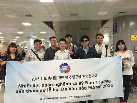 Thay tro Dan Truong - Trung Quang duoc chao don nong nhiet o Han Quoc - Anh 1