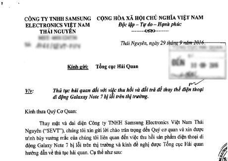 Samsung Thai Nguyen xin co che dac thu de doi tra khan cap Galaxy Note 7 - Anh 2