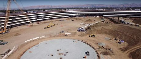 Anh chup tren cao tru so Apple Campus 2 dang xay dung - Anh 7