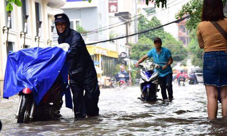 Mua lon, may bay khong the ha canh o Tan Son Nhat - Anh 10