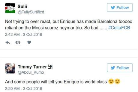 Barca thua, cong dong mang 'cuoi ra nuoc mat', nho Messi, mia mai Enrique, mung cho Real Madrid - Anh 4