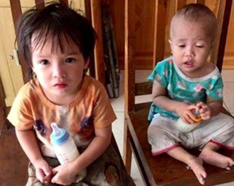 Hai chau nho bi bo lai truoc tru so Cong an TP Hai Phong - Anh 1