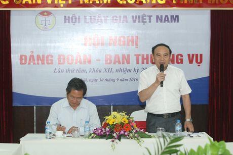 Hoi nghi Dang doan - Ban Thuong vu Trung uong Hoi Luat gia Viet Nam - Anh 15