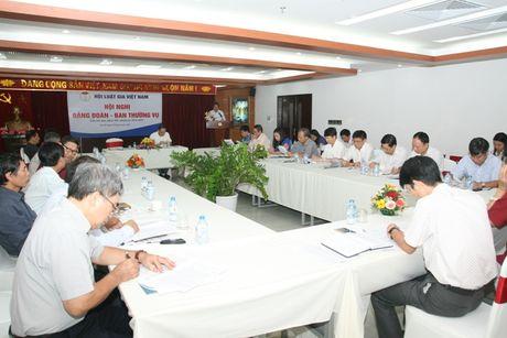 Hoi nghi Dang doan - Ban Thuong vu Trung uong Hoi Luat gia Viet Nam - Anh 1