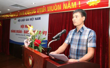 Hoi nghi Dang doan - Ban Thuong vu Trung uong Hoi Luat gia Viet Nam - Anh 2