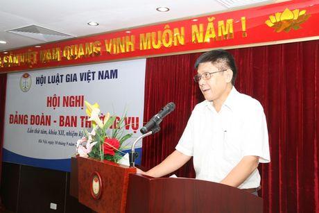 Hoi nghi Dang doan - Ban Thuong vu Trung uong Hoi Luat gia Viet Nam - Anh 3