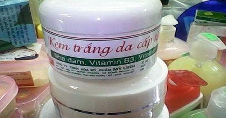 Thu hoi tren toan quoc 1 lo my pham Kem trang da My Linh - Anh 1