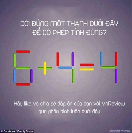Ban co the di chuyen 1 que de 6 + 4 = 4 thanh phep tinh dung? - Anh 1