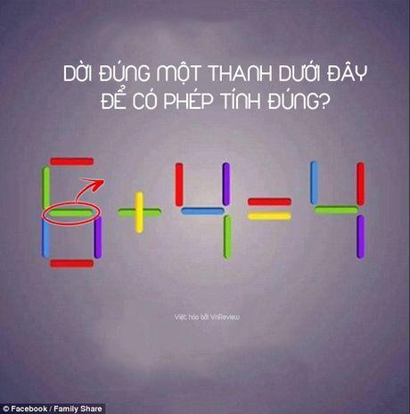 Ban co the di chuyen 1 que de 6 + 4 = 4 thanh phep tinh dung? - Anh 2