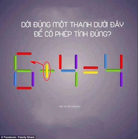 Ban co the di chuyen 1 que de 6 + 4 = 4 thanh phep tinh dung? - Anh 3