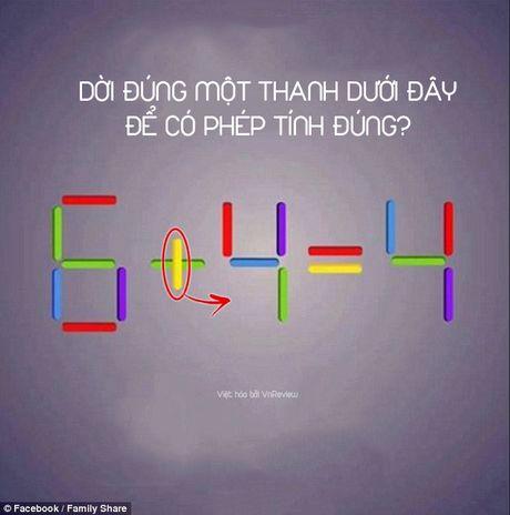 Ban co the di chuyen 1 que de 6 + 4 = 4 thanh phep tinh dung? - Anh 4