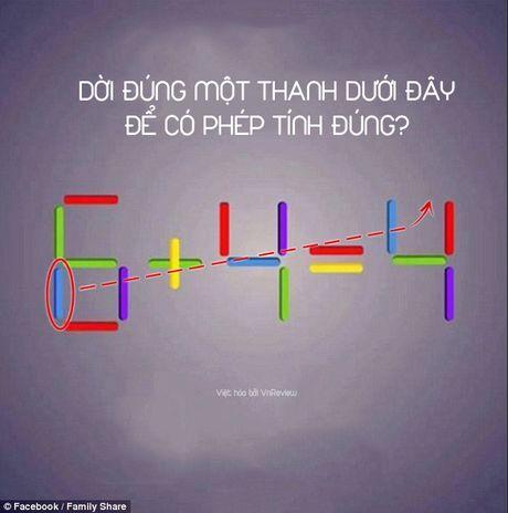 Ban co the di chuyen 1 que de 6 + 4 = 4 thanh phep tinh dung? - Anh 5