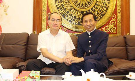 Chu tich Nguyen Thien Nhan tham Hiep si Dai Thanh Gia Le Duc Thinh - Anh 1